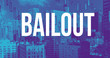 Bailout theme with downtown Los Angeles skycapers