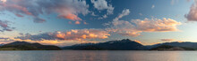 A Panorama Of Sunset Over The ...