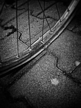 Close-up Of Punctured Bicycle ...