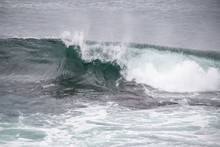 Wave Curling And Crashing In T...