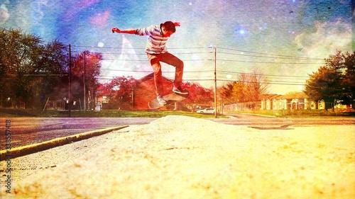 Man Skateboarding On Road