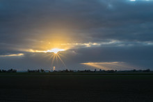 Sun Peeks Through The Clouds. ...