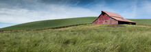 A Panorama Of Green Fields And...
