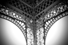 Detail Of Eiffel Tower Against Clear Sky