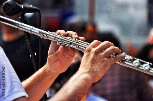 Fotografie, Tablou Man Playing Flute