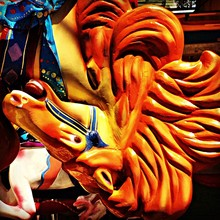 Close-up Of Carousel Horse At Amusement Park