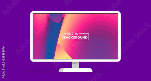 Modern abstract color background wallpaper vector monitor illustration concept Canvas Print