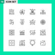 Group of 16 Modern Outlines Set for tap, tapwater, cology, plumbing, mechanical