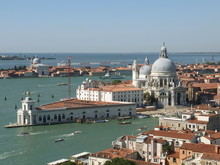 Elevated View Of Grand Canal And Santa Maria Della Salute