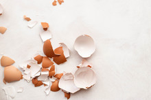 Eggshell On White Background, ...