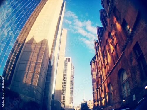 Fotografie, Obraz Contrasting Buildings