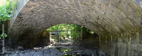 Fotografie, Tablou Panoramic View Of Archway Leading Towards Forest