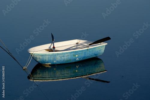 Fototapeta Boat Floating On Water obraz