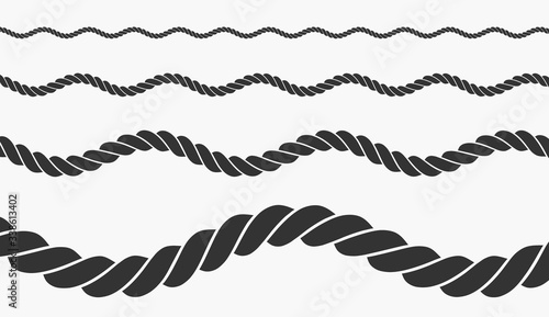 Vászonkép rope vector illustration