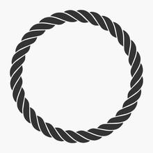 Round Rope Frame. Circle Ropes...