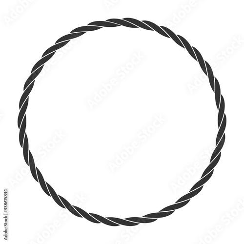 Obraz na plátně Round rope frame