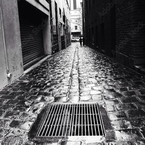 Fototapeta Wet Cobble Street