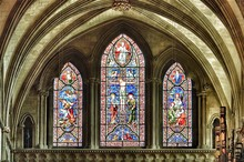 Stained Glass Window In Cathedral