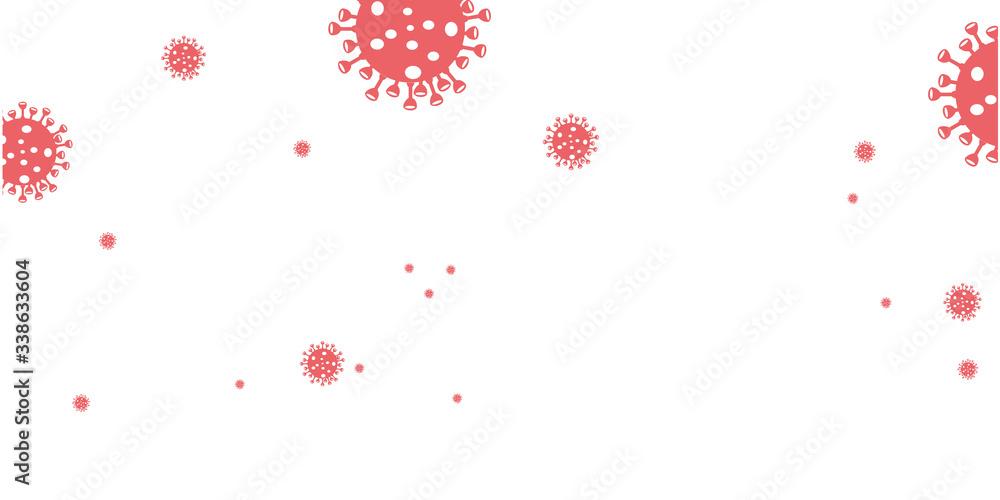 Fototapeta the other design of 2019-nCov Novel Corona Virus background vector. Covid-19 Corona virus disease background illustration. COVID -19 background for basic element graphic resources