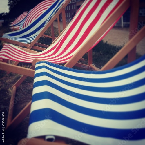 Canvas-taulu Empty Deck Chairs