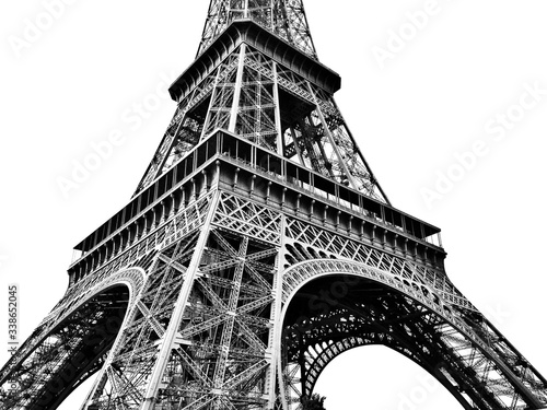 Cuadros en Lienzo Eiffel Tower Against Clear Sky