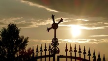 Silhouette Of Wrought Iron Gate