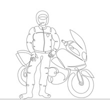A Male Police Motorcyclist In ...