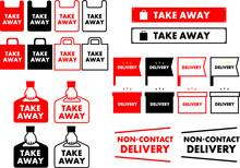 Take Away Bag Icon Illustration Sign