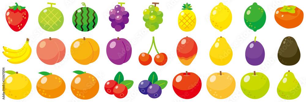 Fototapeta フルーツアイコンセット-Fruit vector icon