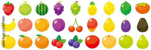 フルーツアイコンセット-Fruit vector icon Canvas