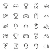 Simple Set Of Gaming Icons In ...