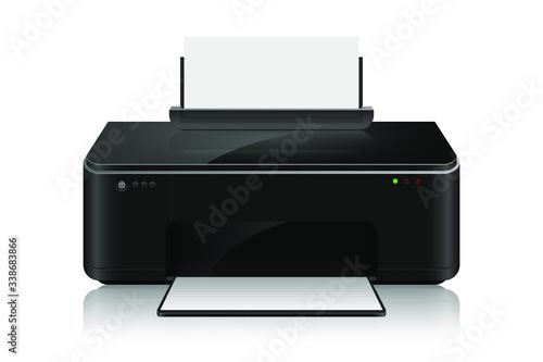 Fotomural Realistic inkjet printer vector design illustration isoalted on white background