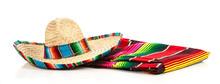A Woven Mexican Sombrero Or Ha...
