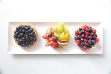 High Angle View Of Fruit Tart ...