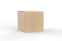 Blank White Cube Product Packa...