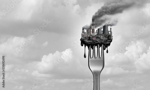 Fotografie, Obraz Pollution And Food
