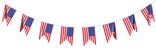String Of USA Flags Decorative...