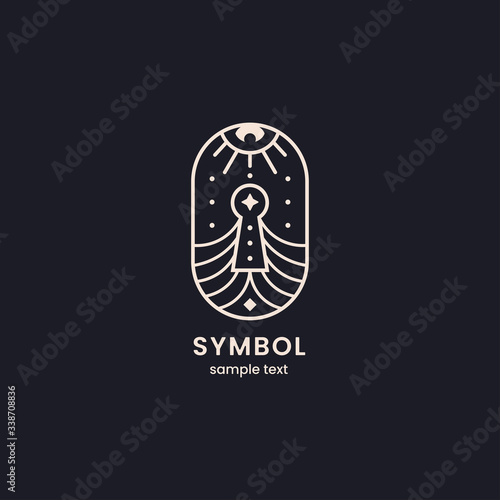 Key lock logo geometric sacred symbol Fototapete