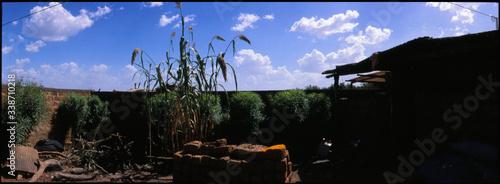 Obraz na plátně Panoramic Shot Of Courtyard