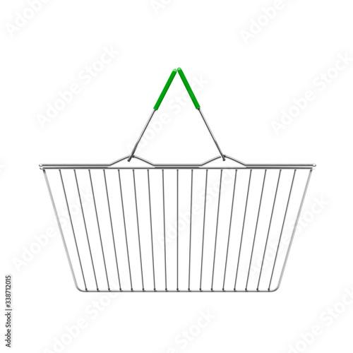 Foto shopping market basket on the white