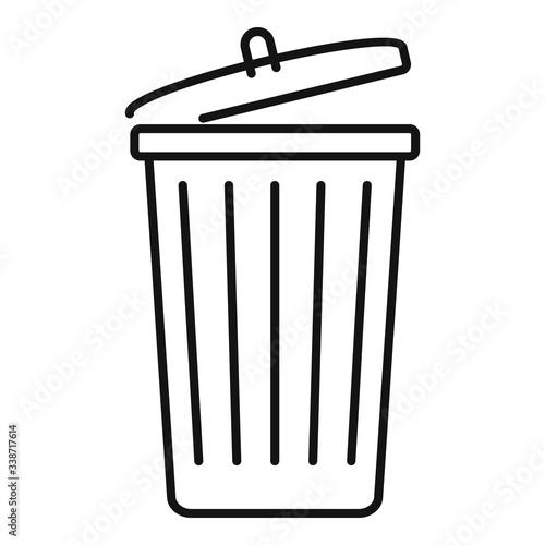 Photo Garbage bin icon