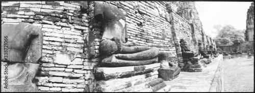 Damaged Buddha Statue At Wat Phra Si Sanphet In Ayuthaya Historical Park Canvas Print