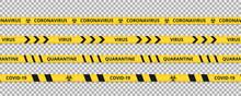 Quarantine Tape Сoronavirus. ...