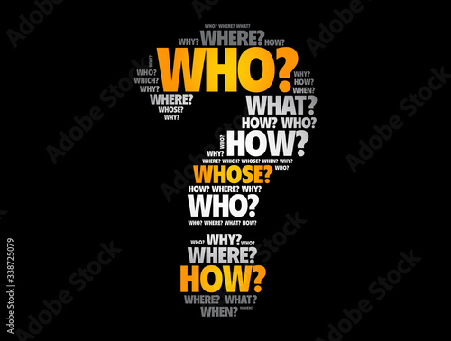 Fototapeta Question mark - Questions whose answers are considered basic in information gath