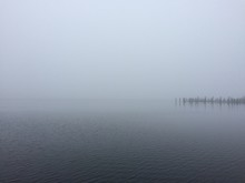 View Of Sea In Misty Morning