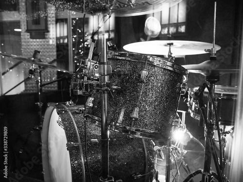 Obraz na plátne Close-up View Of Drums
