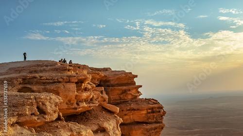 Edge of the World, a natural landmark and popular tourist destination near Riyadh -Saudi Arabia Canvas Print