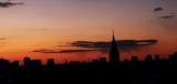 Fototapeta Londyn - Zachód słońca Łódź
