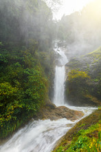 Beautiful Deep Forest Waterfal...