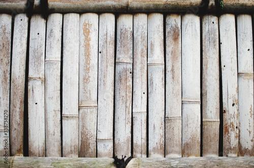 Fotomural Full Frame Shot Of Wooden Bamboos